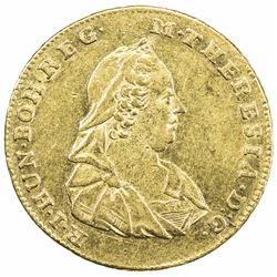 TRANSYLVANIA: Maria Theresa, 1740-1780, AV 2 ducats (6.94g), Karlsburg, 1773-HG. EF-AU