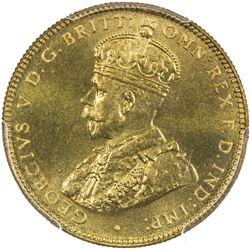 BRITISH WEST AFRICA: George V, 1910-1936, 1 shilling, 1936-KN. PCGS SP