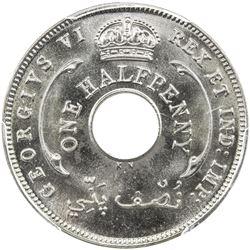 BRITISH WEST AFRICA: George VI, 1936-1952, halfpenny, 1937-KN. PCGS SP