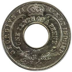 BRITISH WEST AFRICA: George VI, 1937-1952, 1/10 penny, 1946-KN. PCGS SP64
