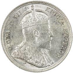 EAST AFRICA & UGANDA: Edward VII, 1901-1910, AR 50 cents, 1906. AU