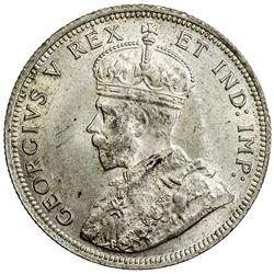 EAST AFRICA: George V, 1910-1936, AR florin, 1920-H. PCGS MS64