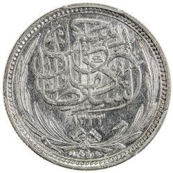 EGYPT: Hussein Kamil, 1914-1917, AR 5 piastres, 1917//AH1335. PCGS MS63