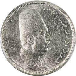 EGYPT: Fuad, as King, 1922-1936, 2 milliemes, 1924-H/AH1342. PCGS SP
