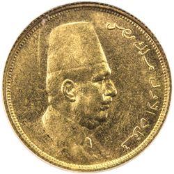 EGYPT: Fuad, 1922-1936, AV 50 piastres, 1923/AH1341. NGC MS62