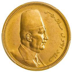 EGYPT: Fuad, 1922-1936, AV 100 piastres, 1922/AH1340. PCGS MS63