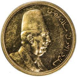 EGYPT: Fuad, 1922-1936, AV 500 piastres, 1922/AH1340. PCGS AU55
