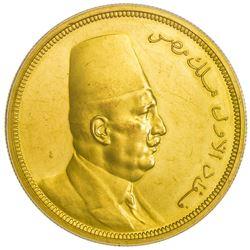 EGYPT: Fuad, 1922-1936, AV 500 piastres, 1922/AH1340. PCGS PF61