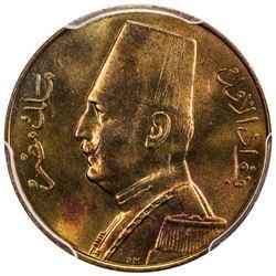 EGYPT: Fuad, 1922-1936, millieme, 1933-H/AH1352. PCGS SP67