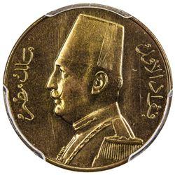 EGYPT: Fuad, 1922-1936, millieme, 1935-H/AH1354. PCGS SP66