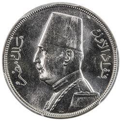 EGYPT: Fuad, 1922-1936, 5 milliemes, 1933-H/AH1352. PCGS SP65