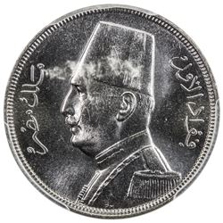EGYPT: Fuad, 1922-1936, 5 milliemes, 1933-H/AH1352. PCGS SP64