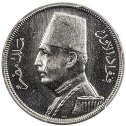 EGYPT: Fuad, 1922-1936, 5 milliemes, 1935-H/AH1354. PCGS SP64