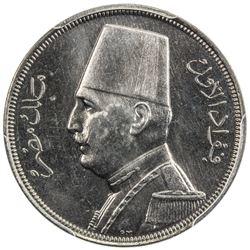 EGYPT: Fuad, 1922-1936, 10 milliemes, 1935-H/AH1354. PCGS SP66