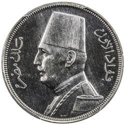 EGYPT: Fuad, 1922-1936, 10 milliemes, 1935-H/AH1354. PCGS SP64
