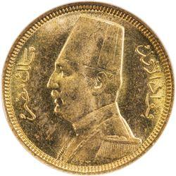 EGYPT: Fuad, 1922-1936, AV 20 piastres, 1930/AH1349. NGC MS65