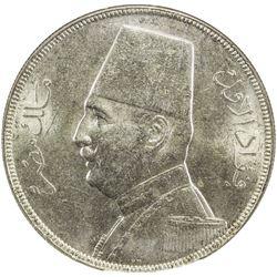 EGYPT: Fuad, 1922-1936, AR 20 piastres, 1929/AH1352. NGC MS63