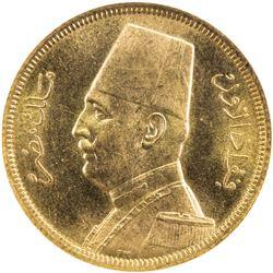EGYPT: Fuad, 1922-1936, AV 50 piastres, 1929/AH1348. NGC MS63
