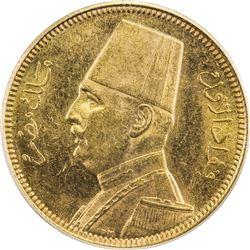 EGYPT: Fuad, 1922-1936, AV 100 piastres, 1929/AH1348. PCGS MS62