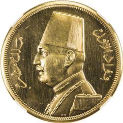 EGYPT: Fuad, 1922-1936, AV 500 piastres, 1932/AH1351. NGC PF62