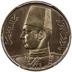 EGYPT: Farouk, 1936-1952, 1/2 millieme, 1938/AH1357. PCGS SP67