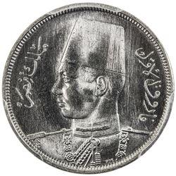EGYPT: Farouk, 1936-1952, 5 milliemes, 1941/AH1360. PCGS SP65