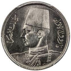 EGYPT: Farouk, 1936-1952, 10 milliemes, 1941/AH1360. PCGS SP66