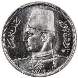 EGYPT: Farouk, 1936-1952, 10 milliemes, 1941/AH1360. PCGS SP65