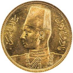 EGYPT: Farouk, 1936-1952, AV 50 piastres, 1938/AH1357. NGC MS65