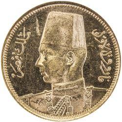 EGYPT: Farouk, 1936-1952, AV 100 piastres, 1938/AH1357. NGC MS64