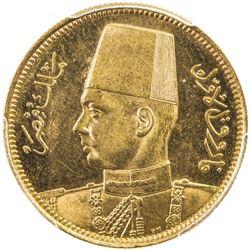 EGYPT: Farouk, 1936-1952, AV 100 piastres, 1938/AH1357. PCGS MS63