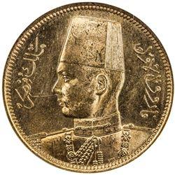 EGYPT: Farouk, 1936-1952, AV 100 piastres, 1938/AH1357. NGC MS63