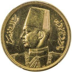 EGYPT: Farouk, 1936-1952, AV 500 piastres, 1938/AH1357. PCGS UNC
