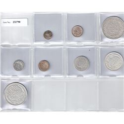 EGYPT:LOT of 8 silver coins