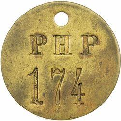 GERMAN EAST AFRICA: brass token (8.99g), ND (pre-1914), plantation at Lusangasanga, EF