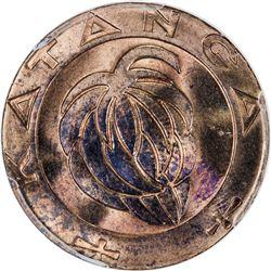 KATANGA: Republic, AE franc, 1961