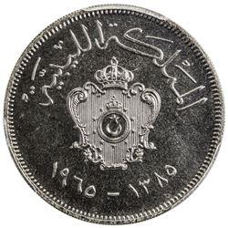 LIBYA: Idris, 1951-1969, 100 milliemes, 1965/AH1385. PCGS SP66
