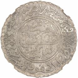 MOROCCO: Moulay al-Hasan I, 1873-1894, AR 5 dirhams, Paris, AH1310. NGC MS64