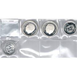 MOROCCO:LOT of 4 silver commemorative coins