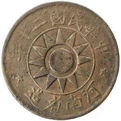 HONAN: Republic, AE 50 cash, year 20 (1931). F-VF