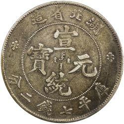 HUPEH: Hsuan Tung, 1909-1911, AR dollar, ND. VF