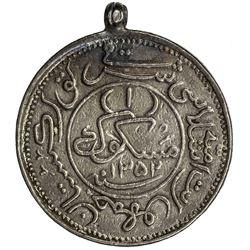 ISLAMIC REPUBLIC OF EAST TURKESTAN: Hoja Niyaz Haji, 1933-1934, AR miscal (8.76g), Kashgar, AH1352.