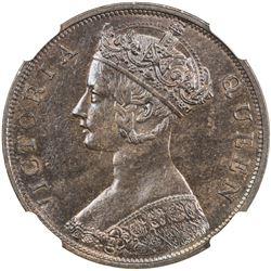 HONG KONG: Victoria, 1842-1901, AR cent, 1866. NGC MS65