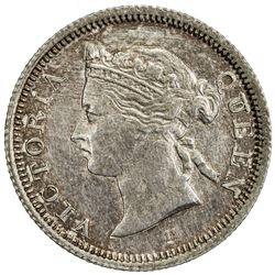 HONG KONG: Victoria, 1841-1901, AR 5 cents, 1872/68-H. PCGS AU