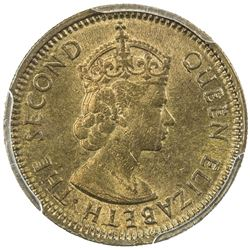 HONG KONG: Elizabeth II, 1952-1997, 5 cents, 1964-H. PCGS MS63