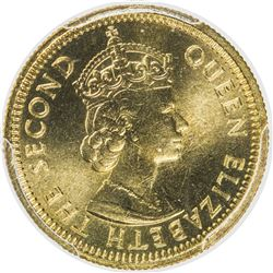 HONG KONG: Elizabeth II, 1952-1997, 5 cents, 1971-KN. PCGS SP