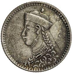 TIBET: AR 1/4 rupee (2.88g), Chengdu mint, ND (1904-12). PCGS EF