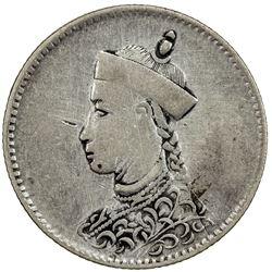TIBET: AR 1/2 rupee (5.73g), Chengdu mint, ND (1904-12). PCGS VF30