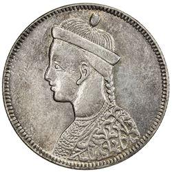 TIBET: AR rupee (11.37g), Chengdu mint, ND (1902-11). PCGS AU