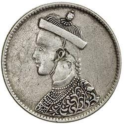 TIBET: AR rupee (11.26g), Chengdu mint, ND (1911-33). PCGS EF